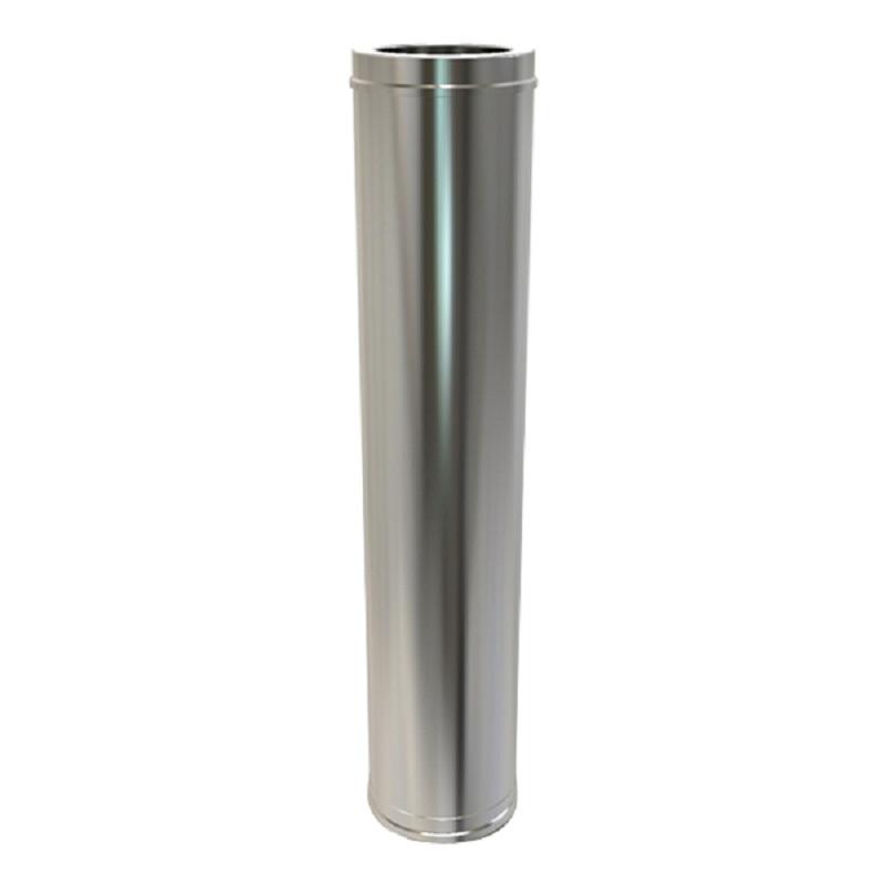 Pellet Twin Wall 1250mm Pipe 80mm