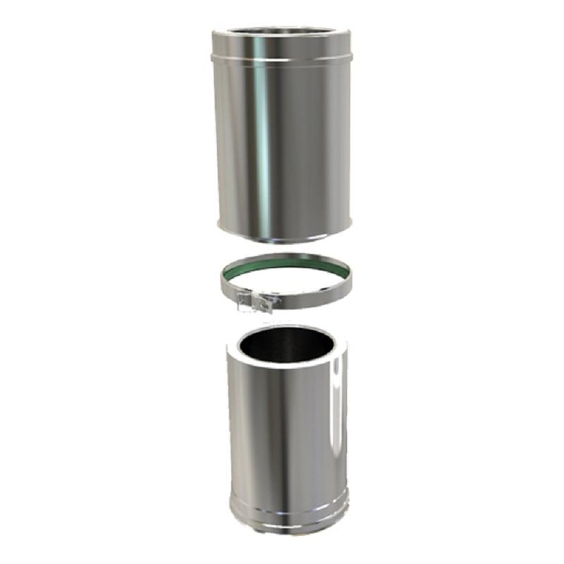 Pellet Twin Wall Adjustable Pipe 340-490mm 100mm