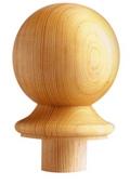 Burbidge Newel Cap Ball NC2 90 Pine