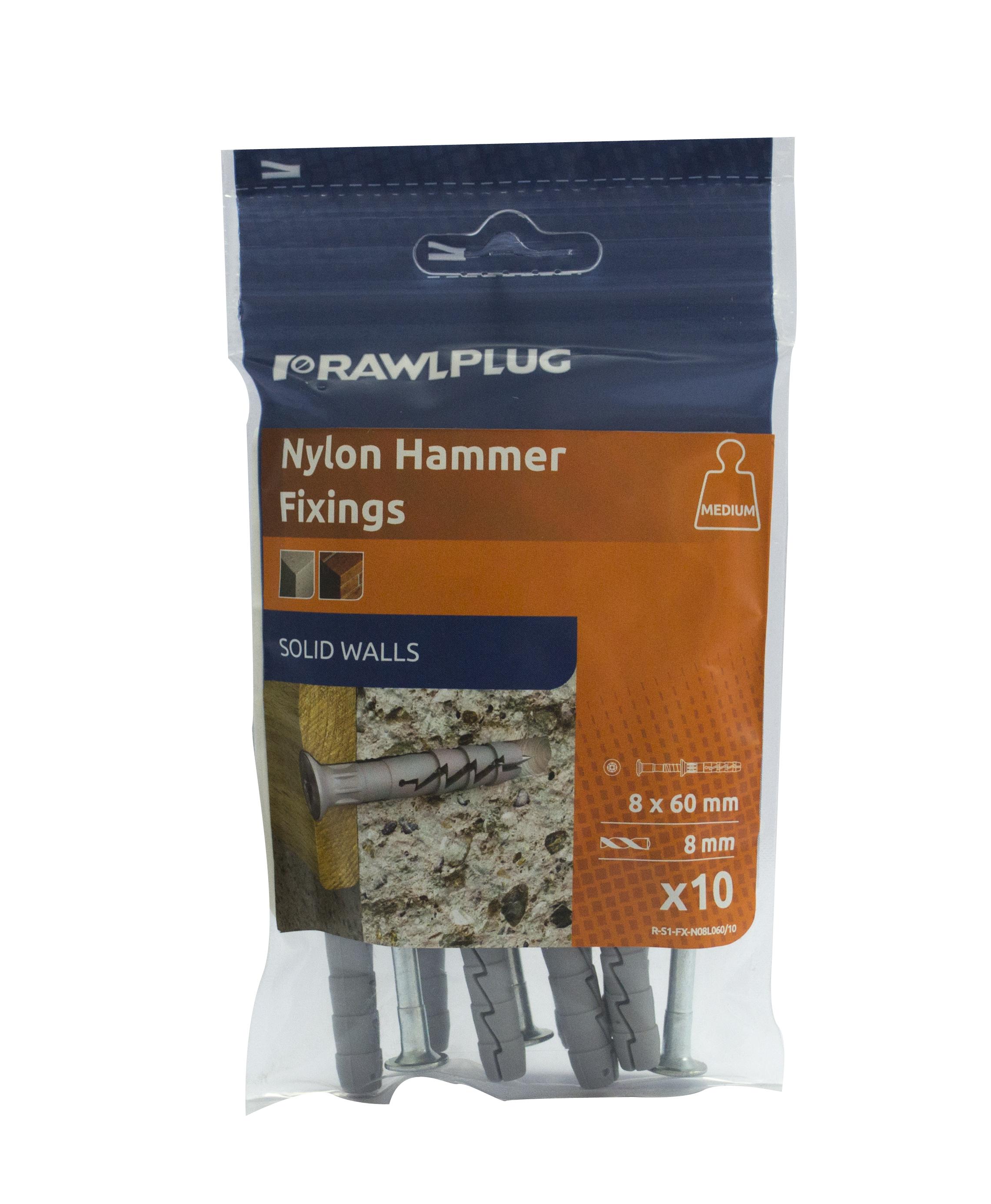 Rawlplug Hammer In Fixing M6x60mm (Each) ***