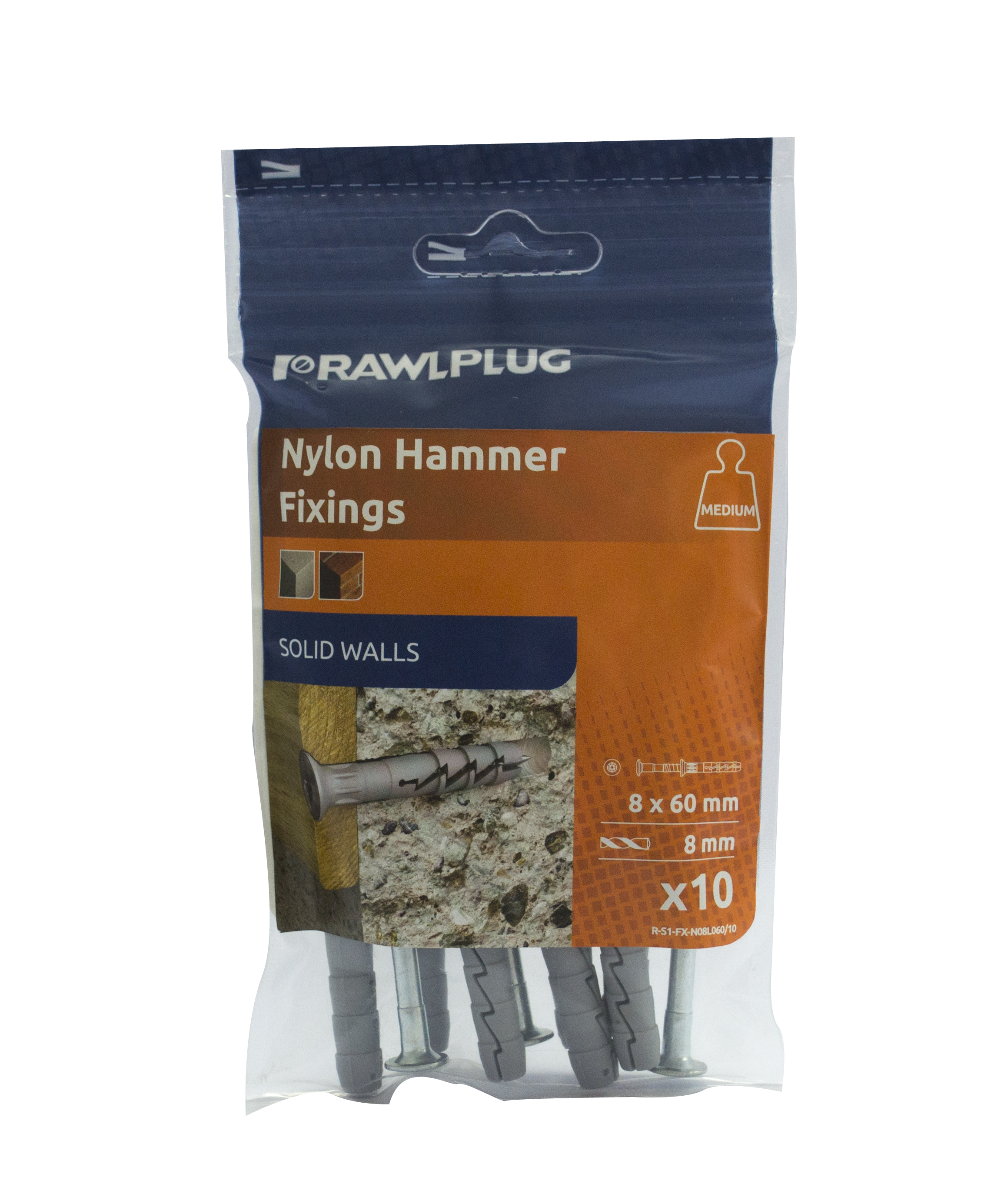 Rawlplug Hammer In Fixing M6x35mm (Each) ***