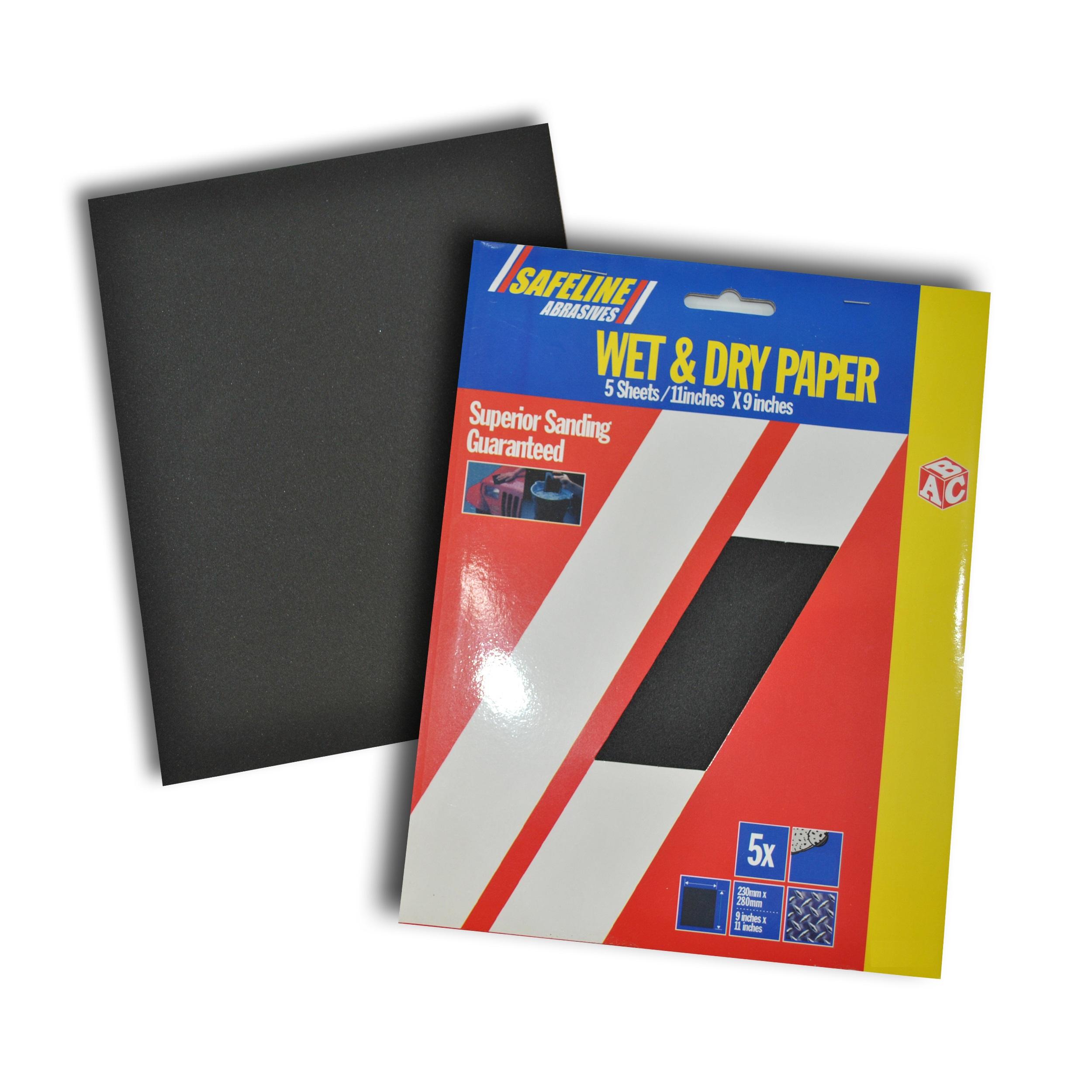 Sandpaper Sheets Wet & Dry Medium (5 Pack)