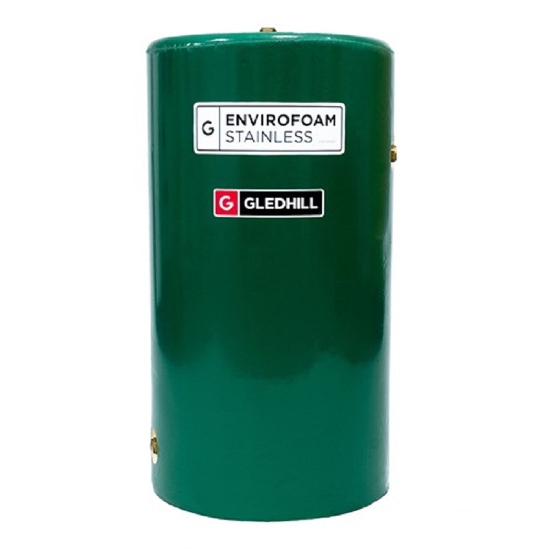 Envirofoam 60x18 Twin Coil Stainless Steel Open Vented Cylinder