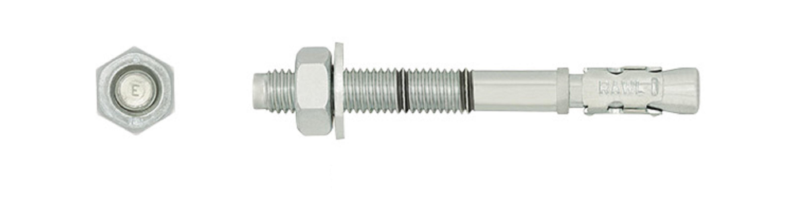 Rawl Trade Throughbolt M8X140 BZP (4pcs)