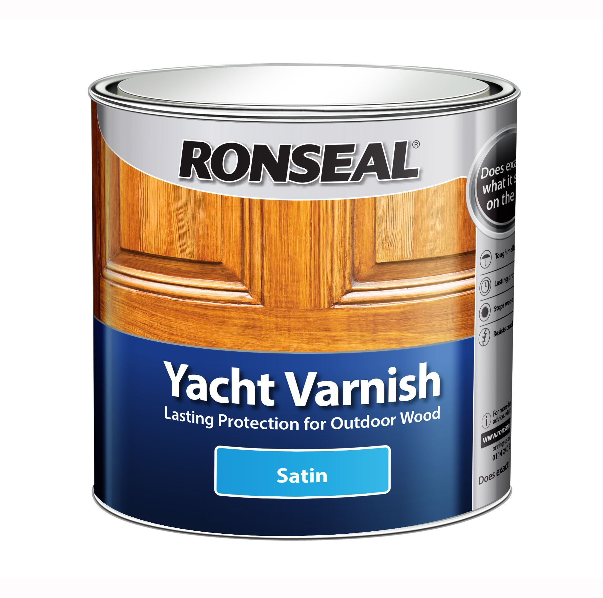 Ronseal Yacht Varnish  Satin 1L