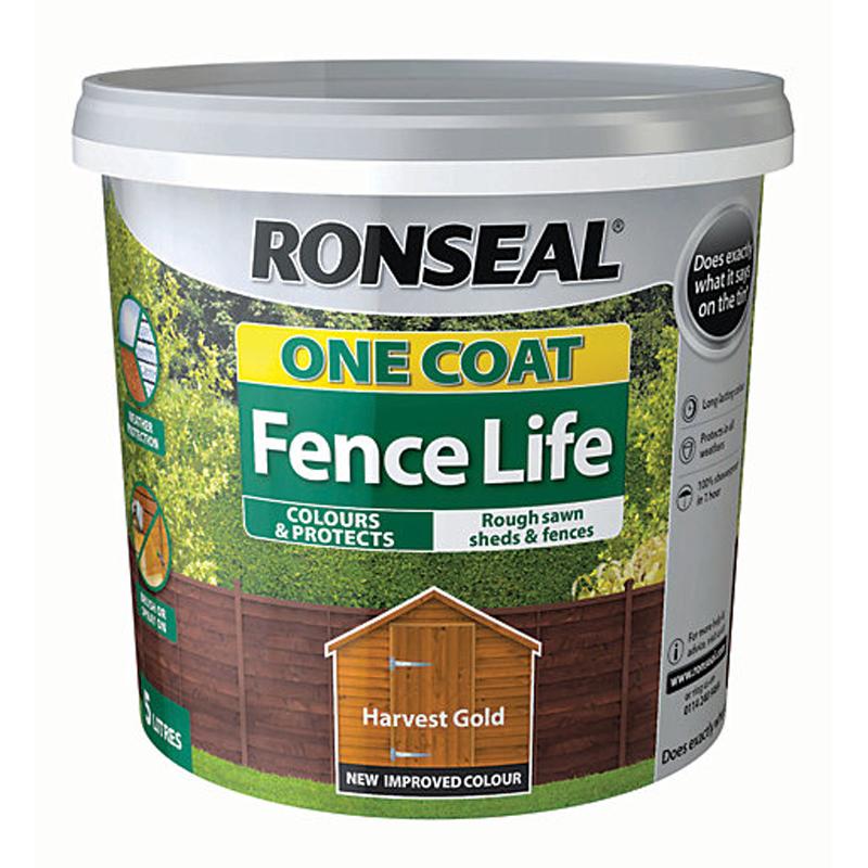 Ronseal One Coat Fencelife 5L Harvest Gold