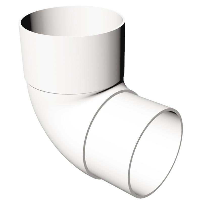 Round Offset Bend 90 Degree White