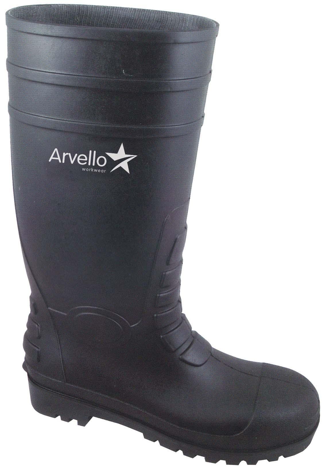 ABC Steel Toe Wellington Boots Size 8