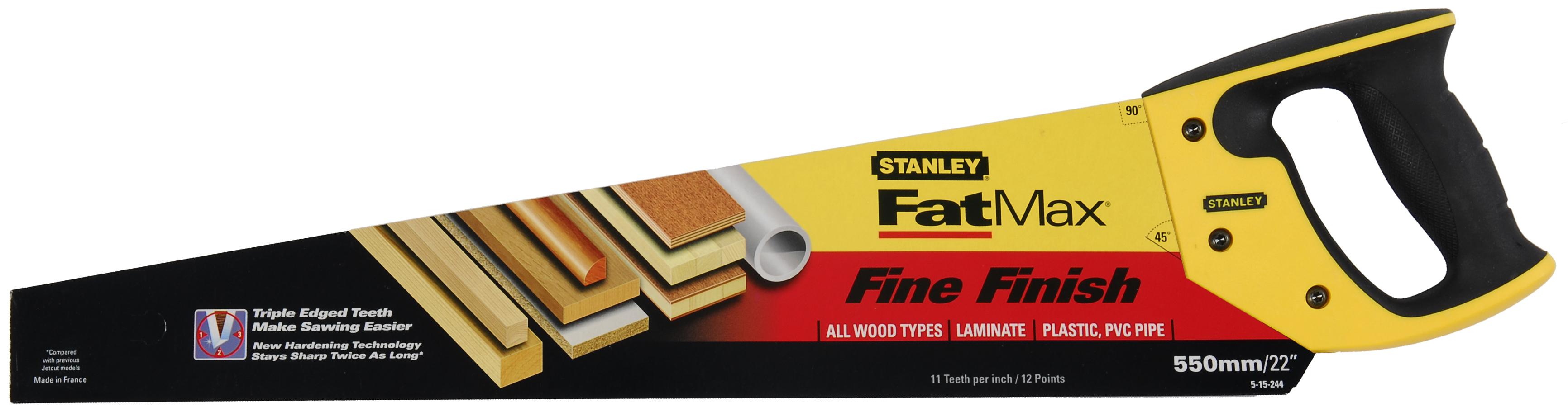 """Stanley Fatmax Handsaw Fine Cut 22"""""""