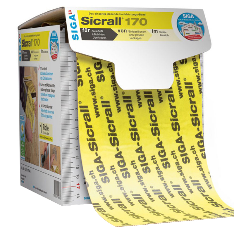 Siga Sicrall 170 Adh Tape 170mm x 40m Yellow