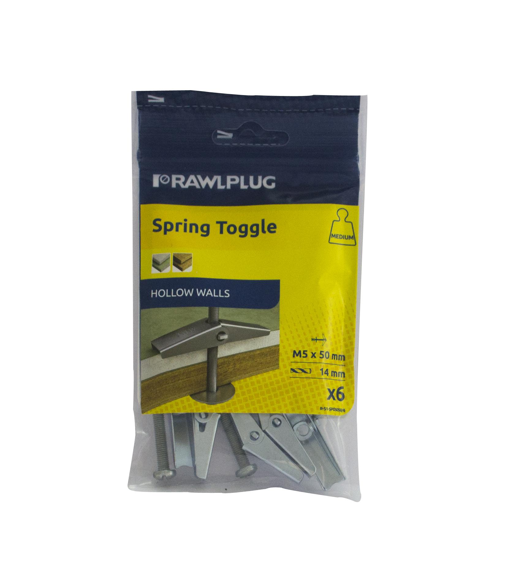 Rawl Trade Spring Toggle M6x80 (6pcs)