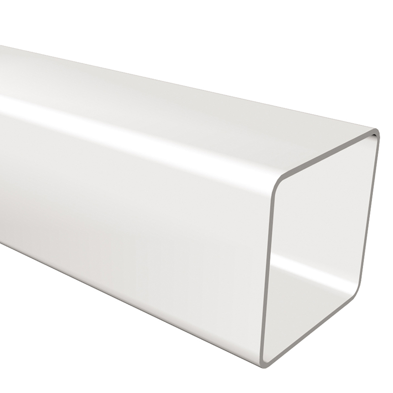 Square Downpipe 65mm 2.75m White