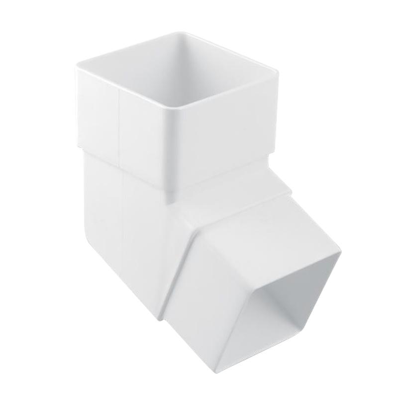 Square Downpipe Shoe White