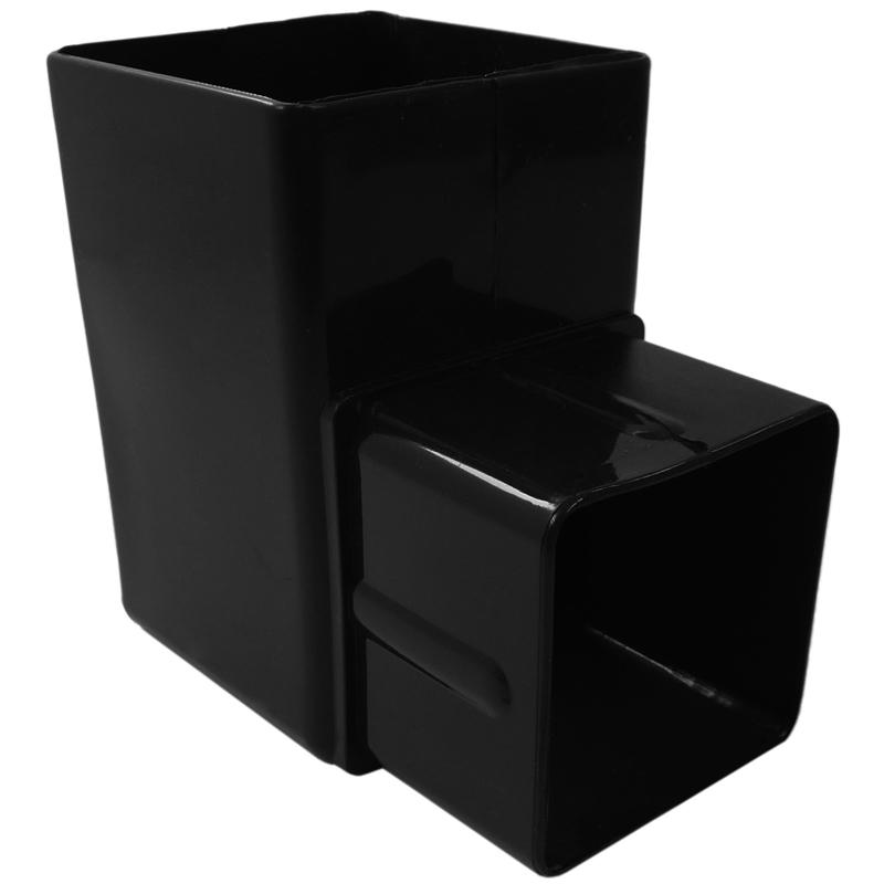 Square Offset Bend 90 Degree Black