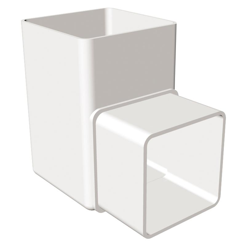 Square Offset Bend 90 Degree White