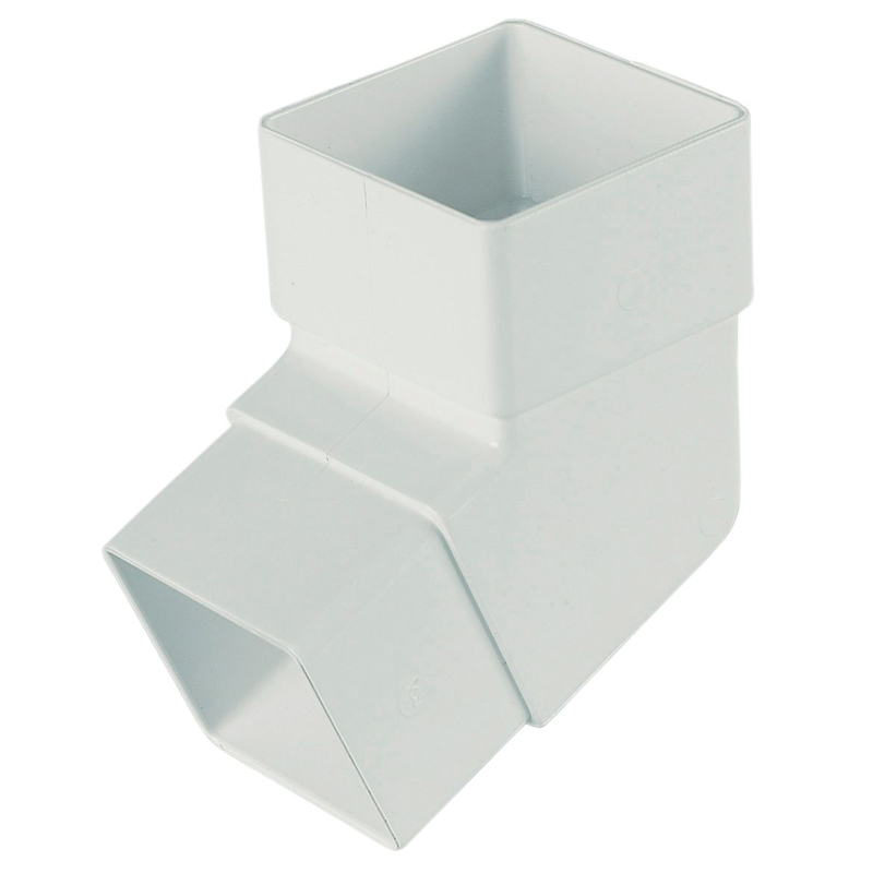 Square Offset Bend White 112 Degree