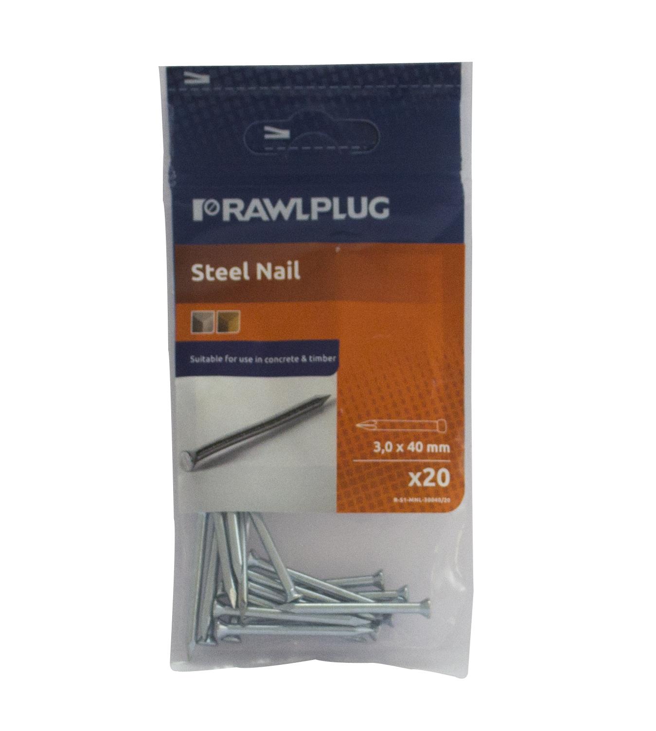 Rawl Trade Masonry Nails 3.5 x 75mm (20pcs)