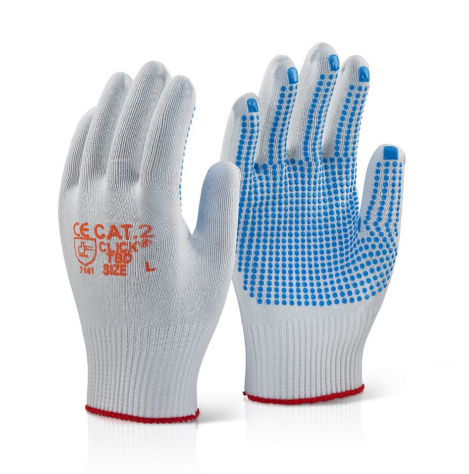 Nylon PVC Dot Glove L (Pair)