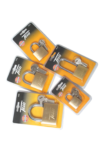 Tessi Solid Brass Padlock With Long Shackle 40mm