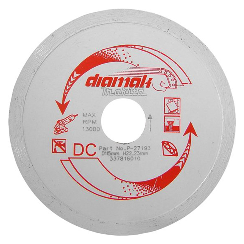Makita DDC115 115mm Diamak Cont Rim Blade