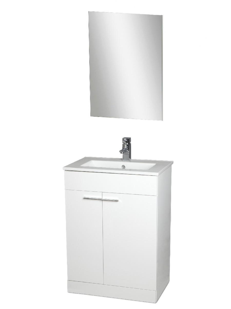 Spain 60cm Vanity Pack, Unit, Basin, Quartz Mixer, Mirror