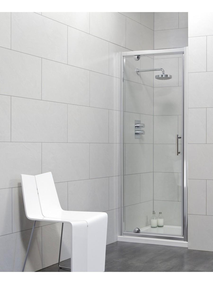 Usher City Chrome Pivot 900 Shower Door 845-890