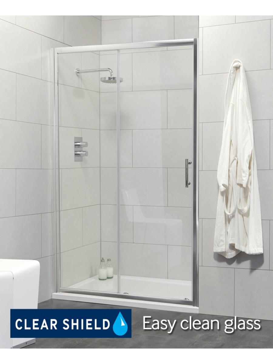 Usher City Chrome Sliding 1100 Shower Door 1040-1090