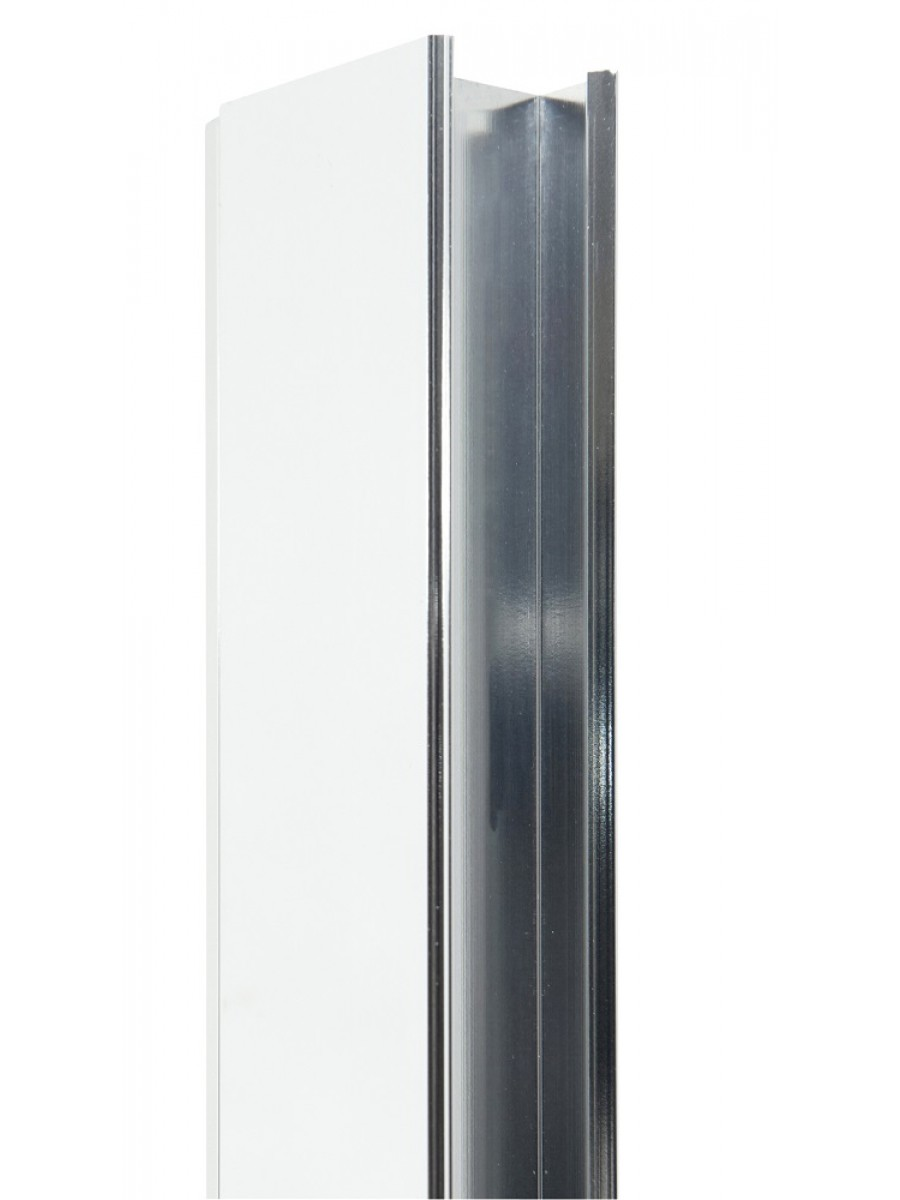 Usher City Chrome Shower Door 30mm Extension Profile