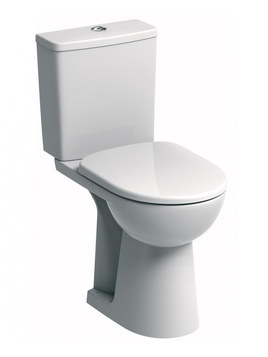 E100 square CC Comfort Height WC & Soft Close Seat