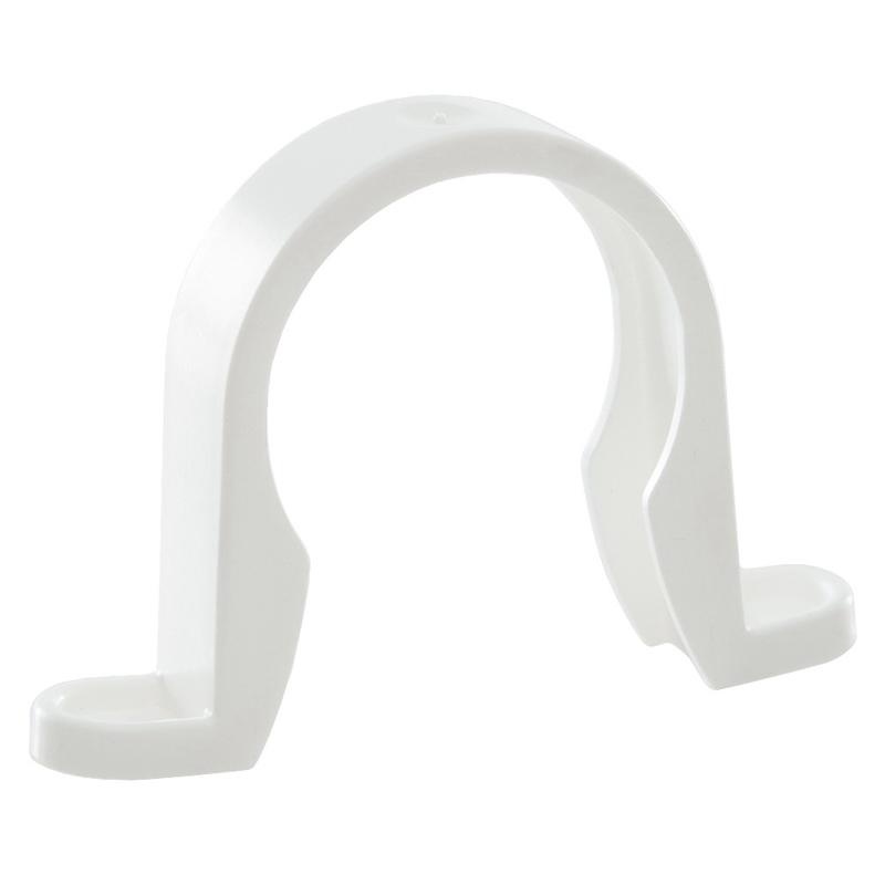 Waste Pipe Clip 50mm White