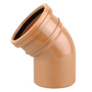 Sewer Bend 45 degreeree Single Socket 225mm