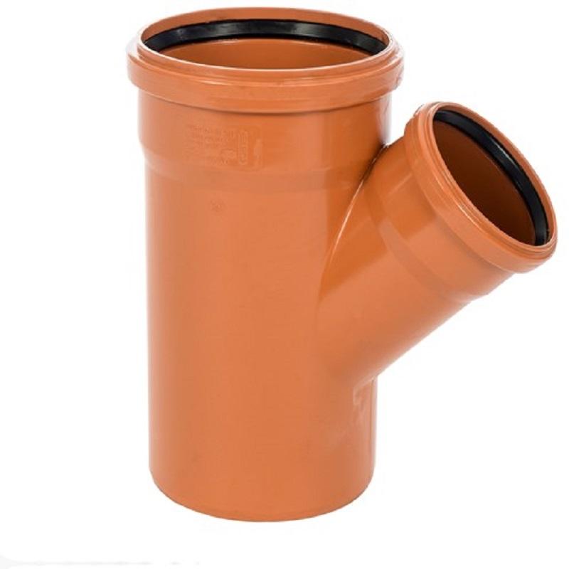 Sewer Y 45 degreeree Double Socket 225x110mm