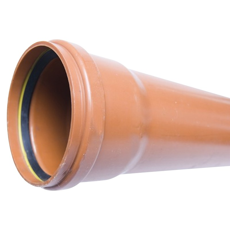 EN 13476 SN4 Socketed Sewer Pipe 160mm 6m