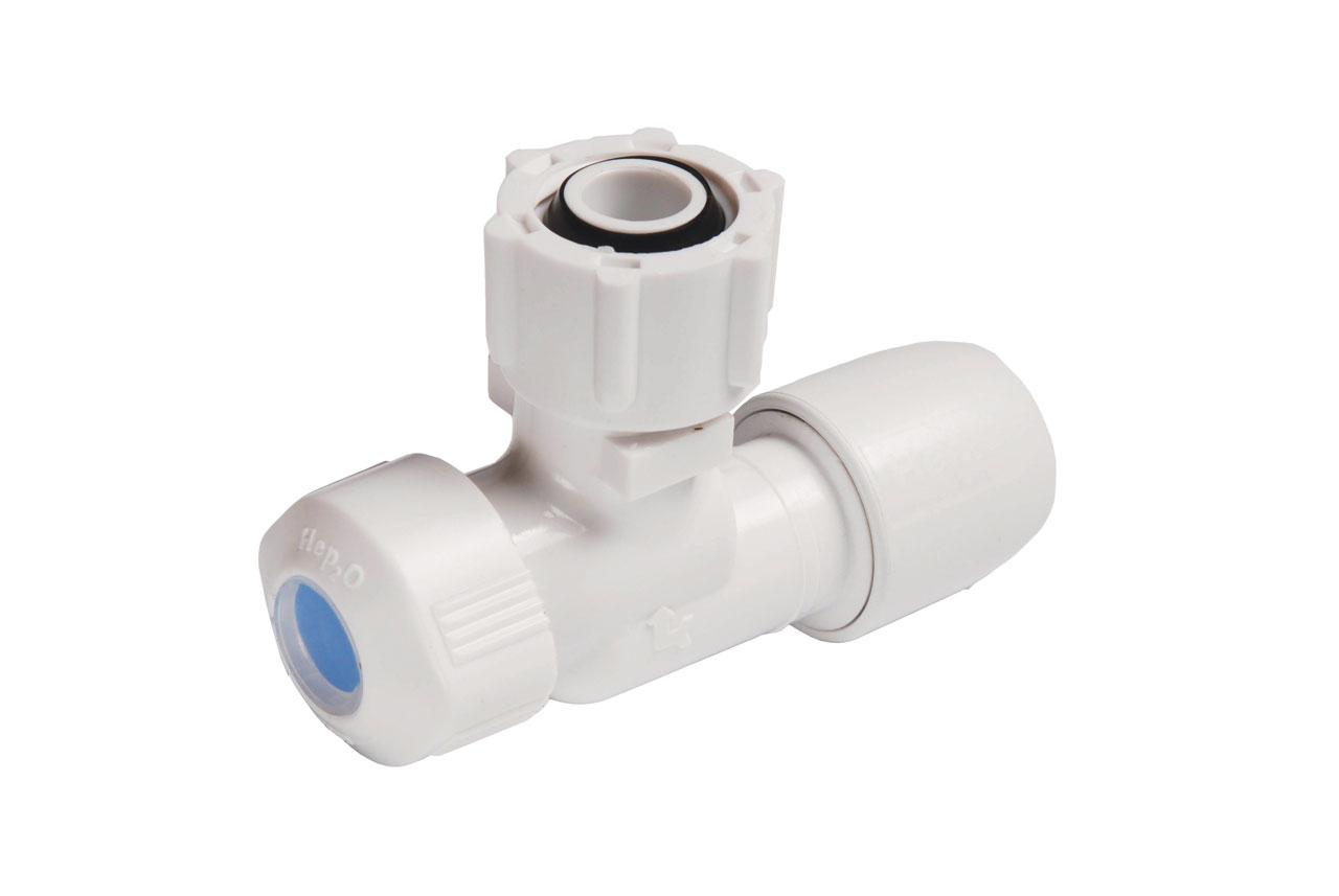 Angled Service Valve Hot/Cold 15mm