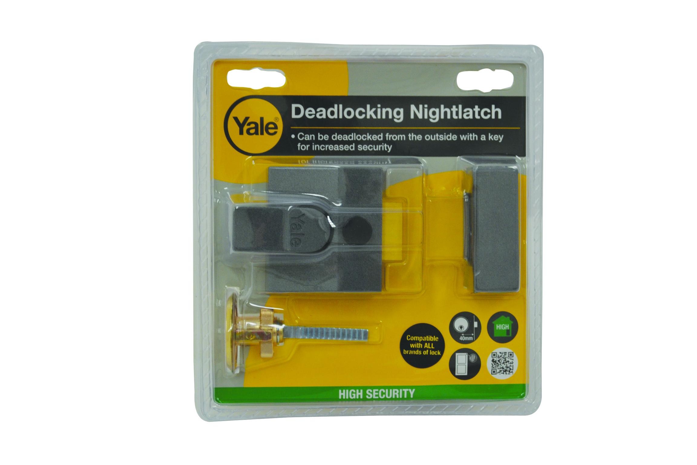 Yale Deadlocking Nightlatch  P85 Grey