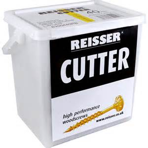 Reisser Cutter Screw Tubs BZP 3.5x 30mm (1600) With 1 Free Self Drive Bit