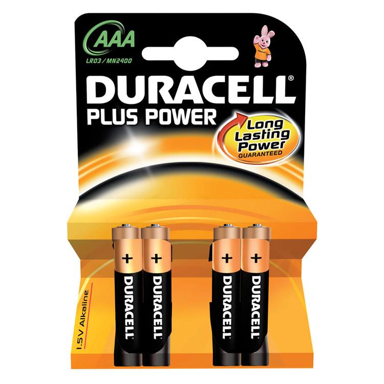 Duracell AAAK4P Alkaline Batteries(4) S3584
