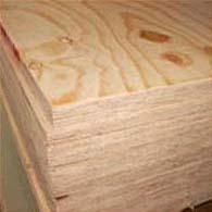 2440 x 1220 x 18mm Pine Faced Poplar Core Plywood BS EN 636-2/314-2