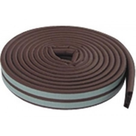 "Self Adhesive ""P"" Profile Weather Strip Brown"