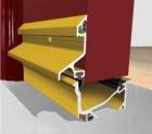 Door Surround  5182mm Satin Chrome
