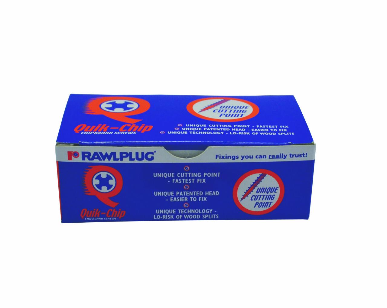 Rawlplug Chipboard Screw 6x50mm Brass (200)