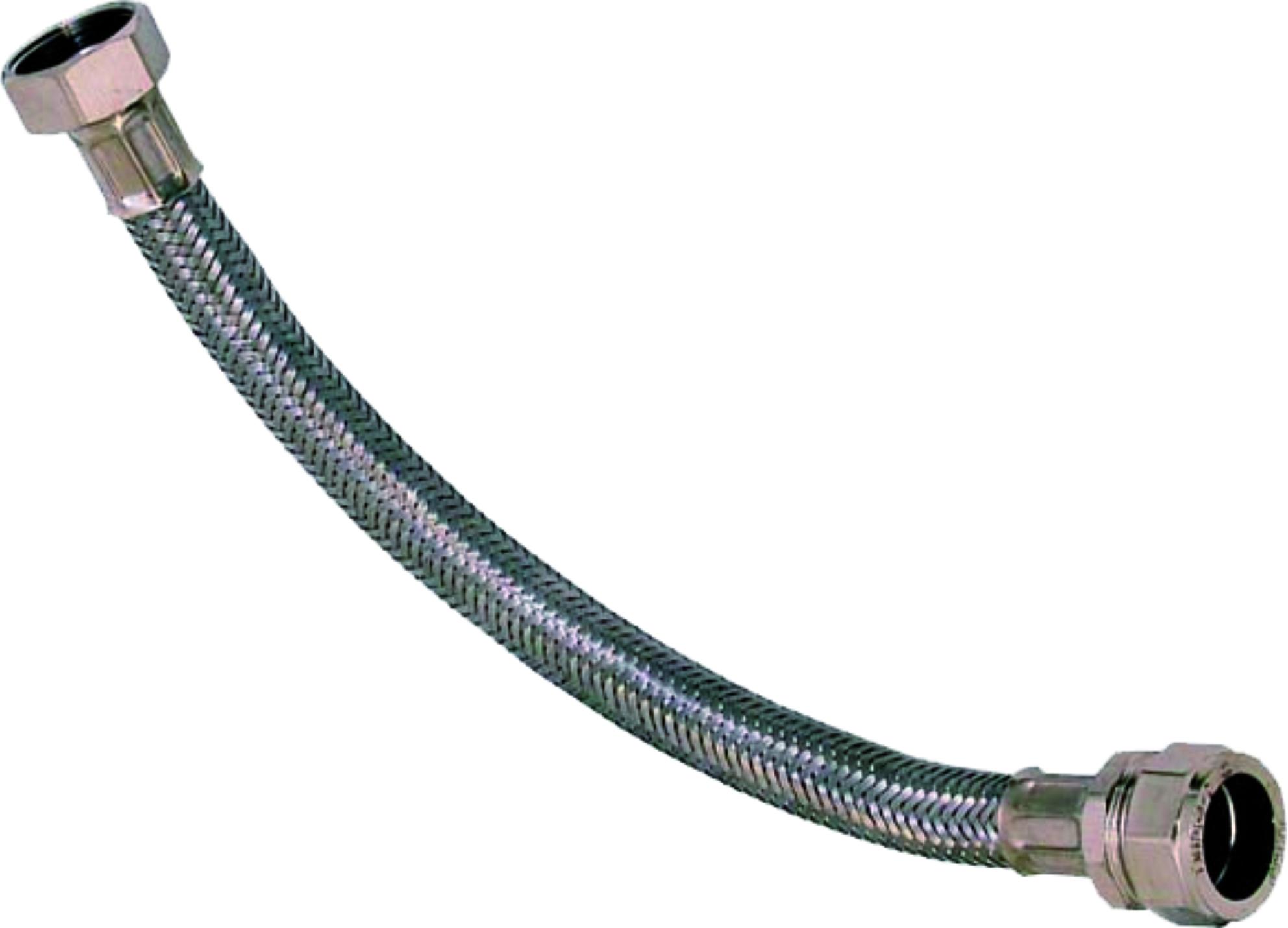 Flexible hose coupling small compost bin