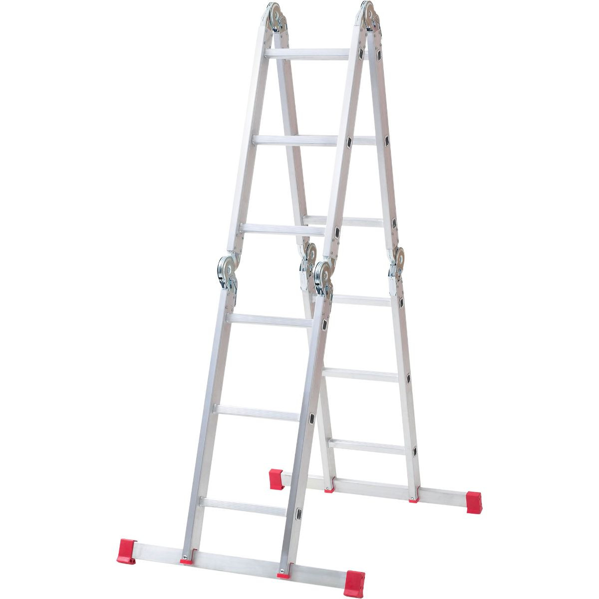 Combination ladder 5 way & platform wall mounted clothes line outdoor