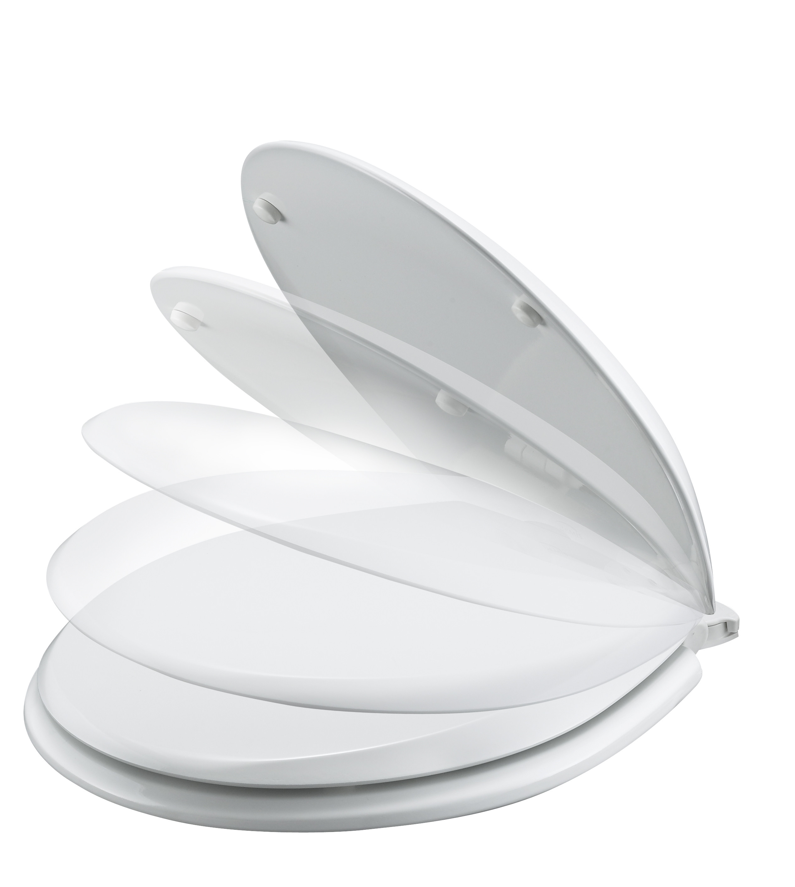 Soft Close Toilet Seat White Complete with S/Steel Hinge (Galaxy)