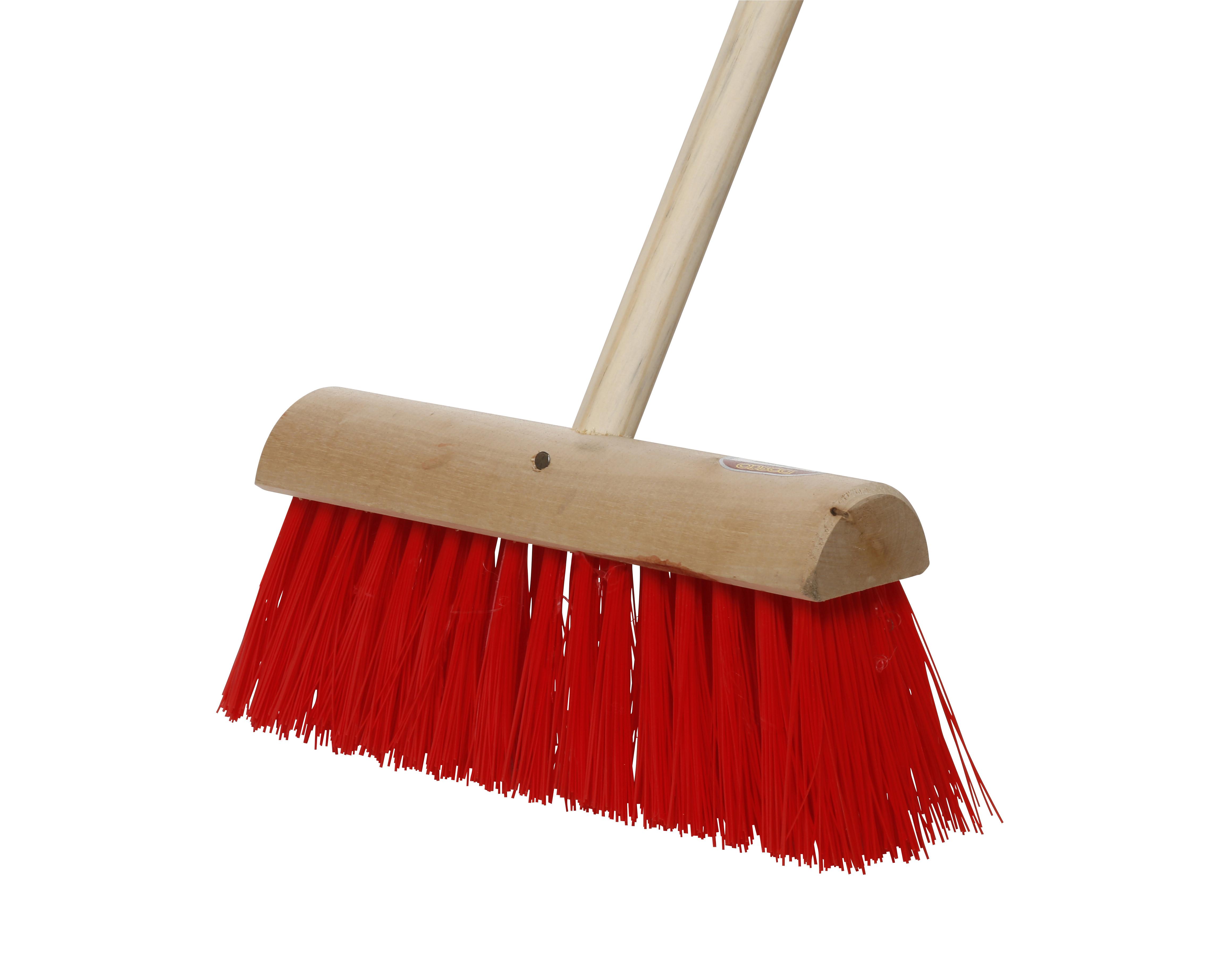 Yard Brush & Handle No.8 Red