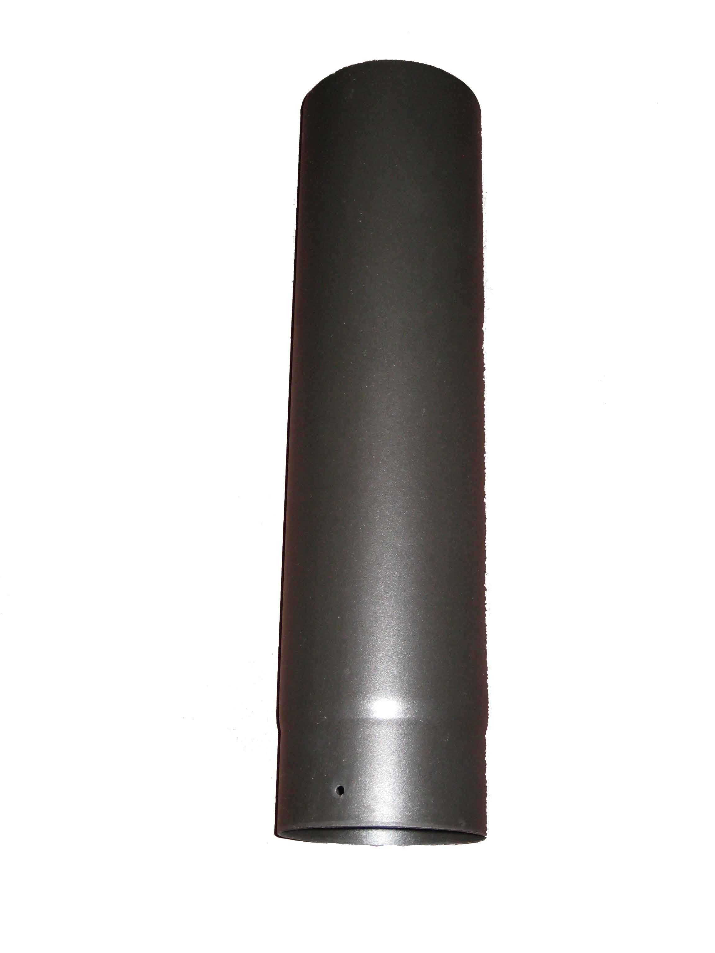 "Matt Black Enamel 500mm Straight MBE Pipe 5"""