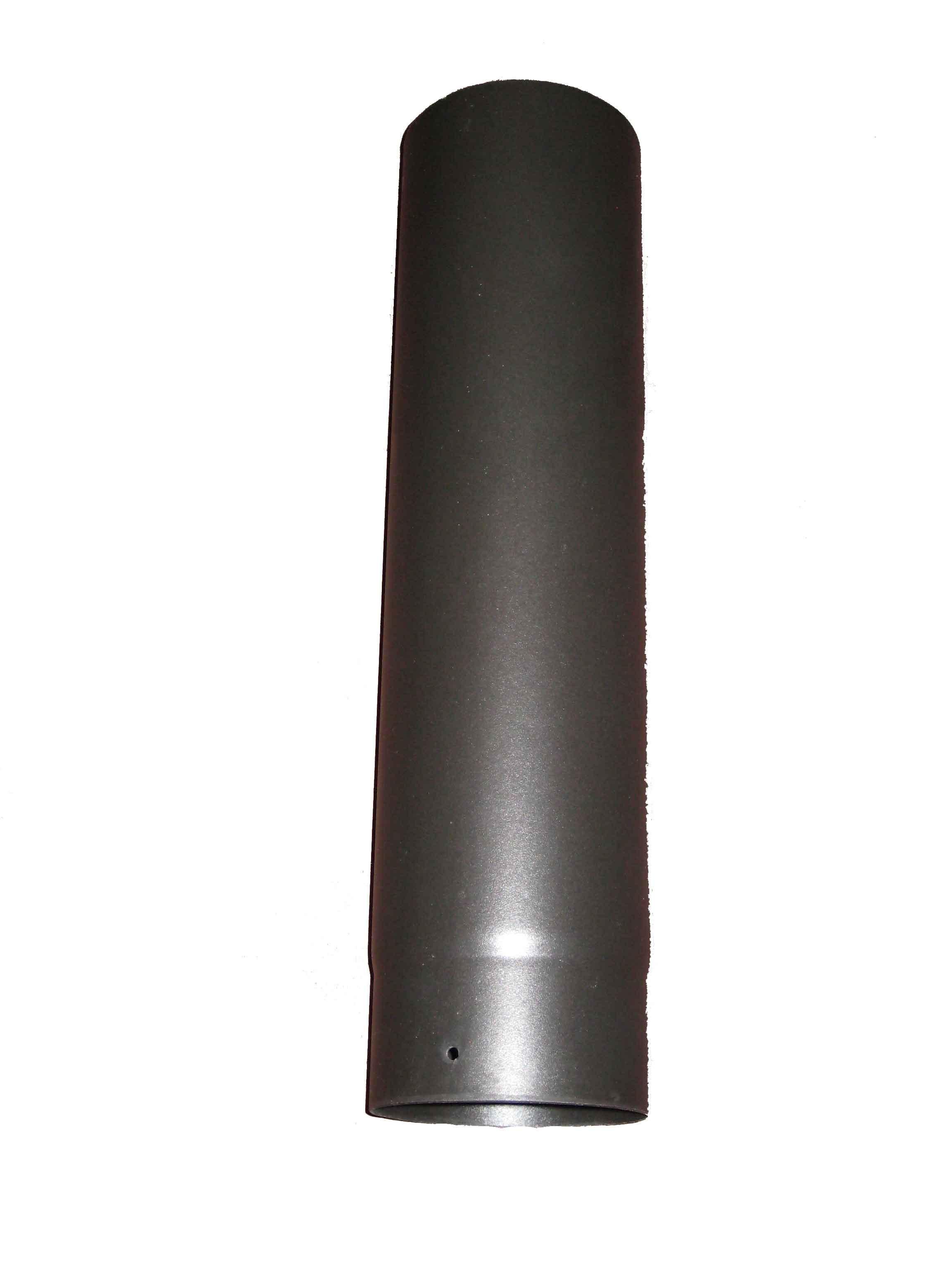 "Matt Black Enamel 500mm Straight MBE Pipe 6"""