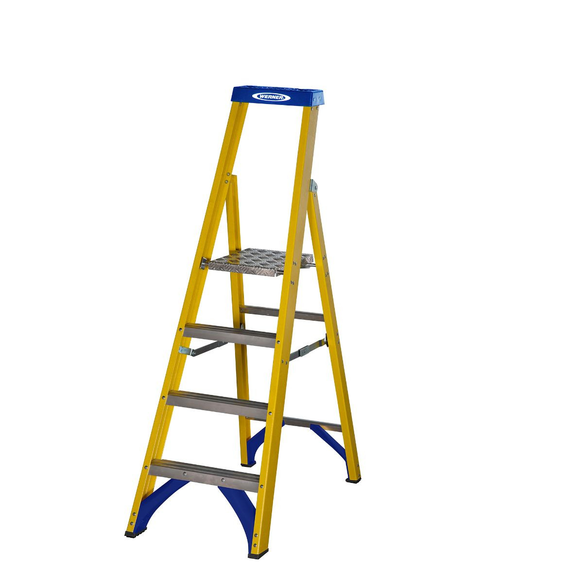 4 Tread Werner Fibreglass Trade Platform Stepladder