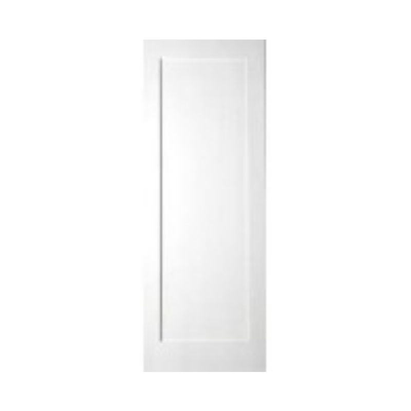 White Primed Shaker Door 1 Panel 80x32