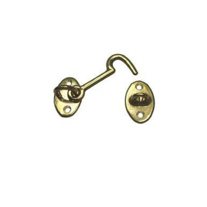 """4"""" Brass Cabin Hook"""